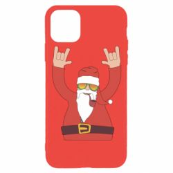 Чохол для iPhone 11 Pro Santa Claus with a tube