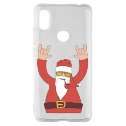 Чохол для Xiaomi Redmi S2 Santa Claus with a tube