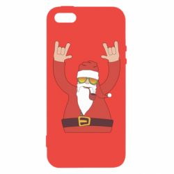 Чохол для iphone 5/5S/SE Santa Claus with a tube