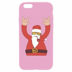 Чохол для iPhone 6 Plus/6S Plus Santa Claus with a tube