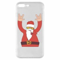 Чохол для iPhone 8 Plus Santa Claus with a tube
