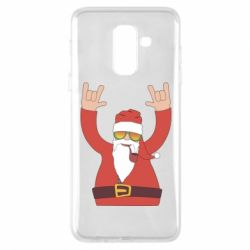Чохол для Samsung A6+ 2018 Santa Claus with a tube