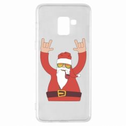Чохол для Samsung A8+ 2018 Santa Claus with a tube