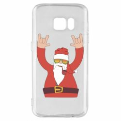 Чохол для Samsung S7 Santa Claus with a tube