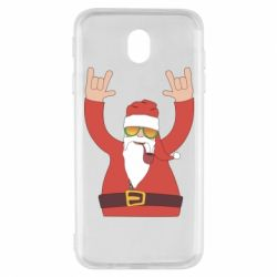Чохол для Samsung J7 2017 Santa Claus with a tube