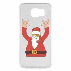 Чохол для Samsung S6 Santa Claus with a tube