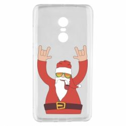 Чохол для Xiaomi Redmi Note 4 Santa Claus with a tube