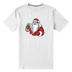 Мужская стрейчевая футболка Santa Claus with beer