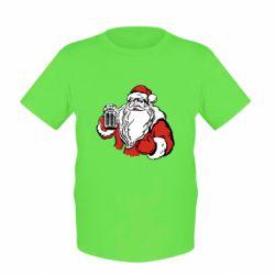 Детская футболка Santa Claus with beer
