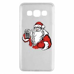 Чехол для Samsung A3 2015 Santa Claus with beer