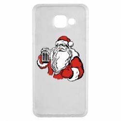 Чехол для Samsung A3 2016 Santa Claus with beer