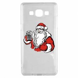 Чехол для Samsung A5 2015 Santa Claus with beer