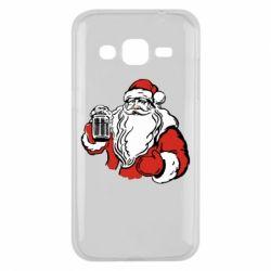 Чехол для Samsung J2 2015 Santa Claus with beer