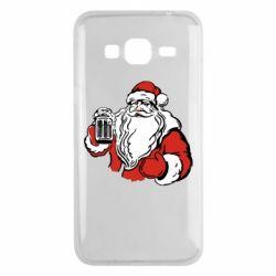 Чехол для Samsung J3 2016 Santa Claus with beer
