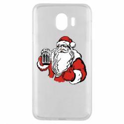 Чехол для Samsung J4 Santa Claus with beer