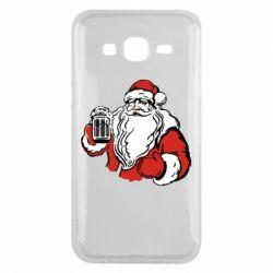 Чехол для Samsung J5 2015 Santa Claus with beer