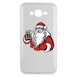 Чехол для Samsung J7 2015 Santa Claus with beer