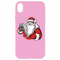 Чехол для iPhone XR Santa Claus with beer