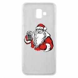 Чехол для Samsung J6 Plus 2018 Santa Claus with beer