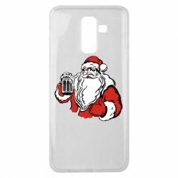 Чехол для Samsung J8 2018 Santa Claus with beer