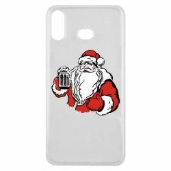 Чехол для Samsung A6s Santa Claus with beer