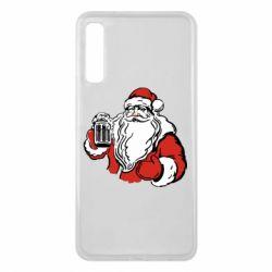 Чехол для Samsung A7 2018 Santa Claus with beer