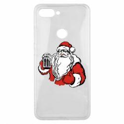 Чехол для Xiaomi Mi8 Lite Santa Claus with beer
