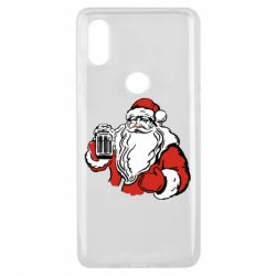 Чехол для Xiaomi Mi Mix 3 Santa Claus with beer