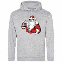 Мужская толстовка Santa Claus with beer