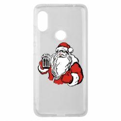 Чехол для Xiaomi Redmi Note 6 Pro Santa Claus with beer
