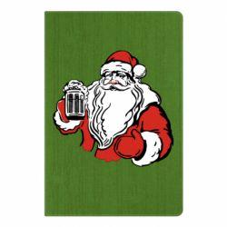 Блокнот А5 Santa Claus with beer