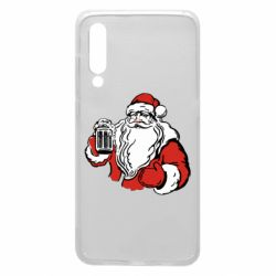 Чехол для Xiaomi Mi9 Santa Claus with beer