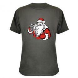 Камуфляжная футболка Santa Claus with beer