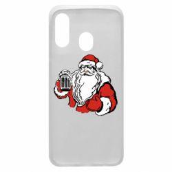 Чехол для Samsung A40 Santa Claus with beer