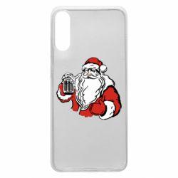 Чехол для Samsung A70 Santa Claus with beer