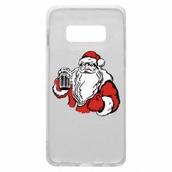 Чехол для Samsung S10e Santa Claus with beer
