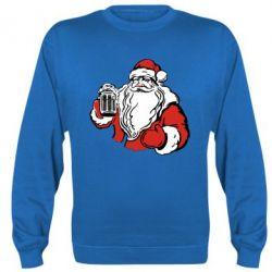 Реглан (свитшот) Santa Claus with beer