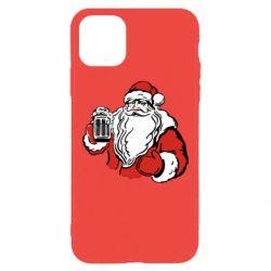 Чехол для iPhone 11 Pro Max Santa Claus with beer