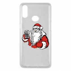 Чехол для Samsung A10s Santa Claus with beer