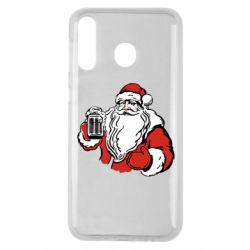 Чехол для Samsung M30 Santa Claus with beer
