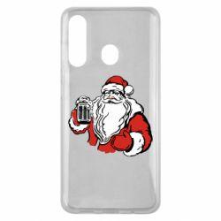Чехол для Samsung M40 Santa Claus with beer