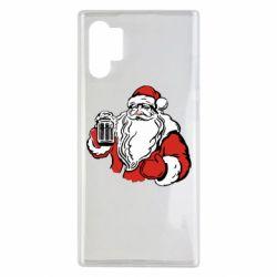 Чехол для Samsung Note 10 Plus Santa Claus with beer