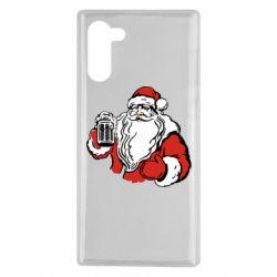 Чехол для Samsung Note 10 Santa Claus with beer