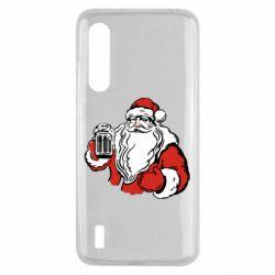 Чехол для Xiaomi Mi9 Lite Santa Claus with beer