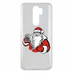 Чехол для Xiaomi Redmi Note 8 Pro Santa Claus with beer