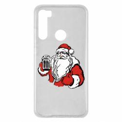 Чехол для Xiaomi Redmi Note 8 Santa Claus with beer