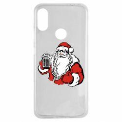 Чехол для Xiaomi Redmi Note 7 Santa Claus with beer