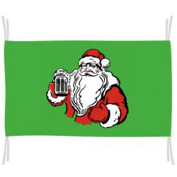 Флаг Santa Claus with beer