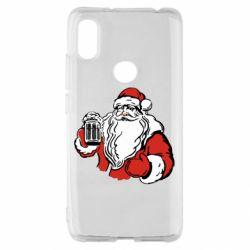 Чехол для Xiaomi Redmi S2 Santa Claus with beer