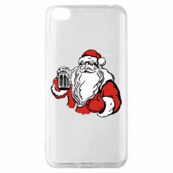 Чехол для Xiaomi Redmi Go Santa Claus with beer